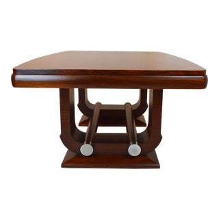 Fabulous Gaston Poisson Art Deco Dining Room Table in Mahogany, 1930.