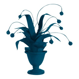 Stray Dog Designs for Chairish Crunchberry Faux Plant, Deep Blue For Sale