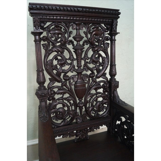 Antique 19th Century Carved Oak Throne Chair - Image 5 of 10