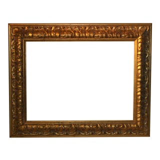 Vintage French Baroque Museum Quality Antique Gold Tone Wood Picture Frame For Sale
