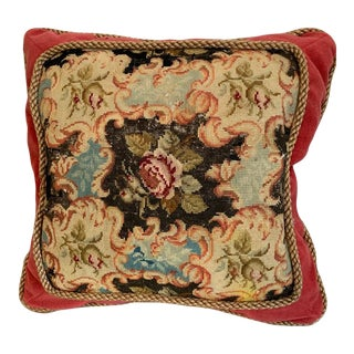 Traditional Throw Pillow Created From Antique Fabrics For Sale