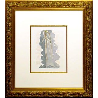 Salvador Dali the Divine Comedy Paradise Canto 22 Authentic Woodblock Art Framed For Sale