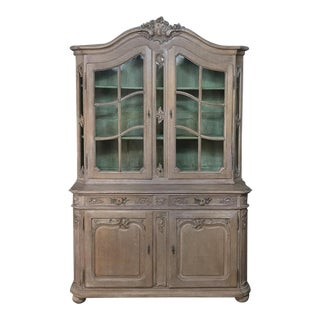 19th Century Country French Provincial Stripped Bookcase ~ Vitrine For Sale