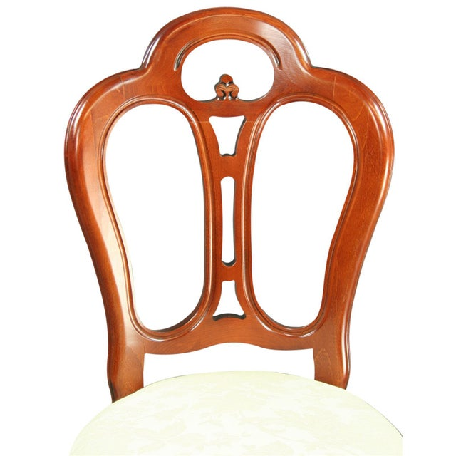 Italian Ivory Damask Dining Chair For Sale In Columbia, SC - Image 6 of 8