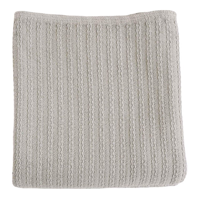 Cableknit Blanket in Grey, Full/Queen For Sale