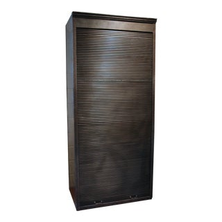 Steel Roll Front Bookcase For Sale
