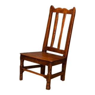 English Low Country Elm Side Chair For Sale