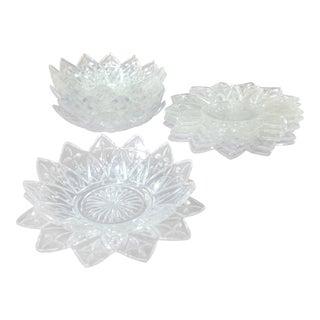 Vintage Petals Plates & Bowls - Set of 12