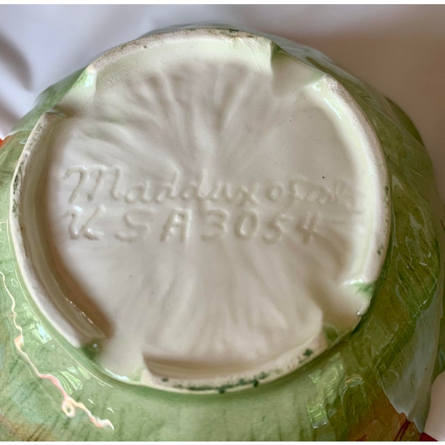Maddux Lettuce Lazy Susan Serving Dish Relish Tray For Sale - Image 4 of 7