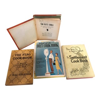 Vintage Cookbooks for Men - Set of 4 For Sale