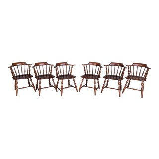 Pennsylvania House Cherry Candlelight Finish Captains Chairs - Set of 6 For Sale
