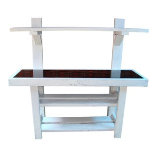 Custom Reclaimed Console Table For Sale