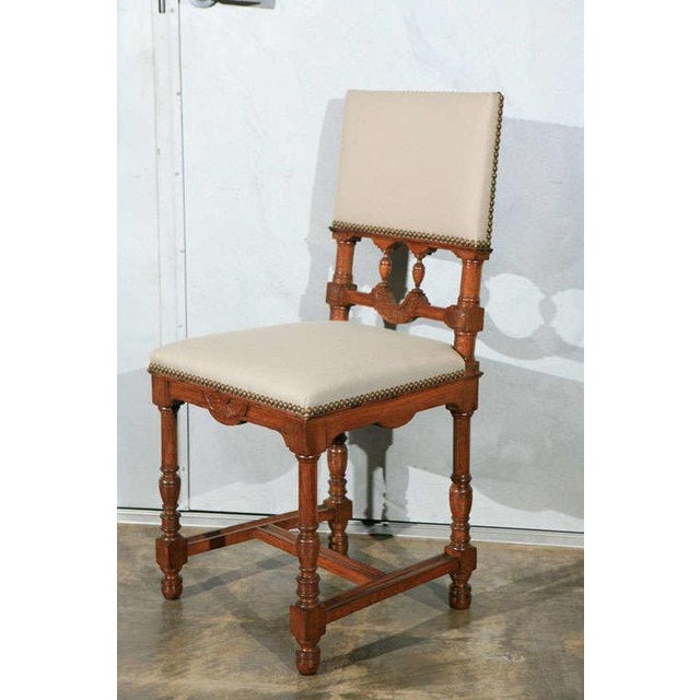 This matching set of 12 side chairs was found in France. They are from the late 19th century and in ready to install...