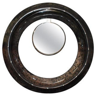 Parchment Convex Mirror For Sale
