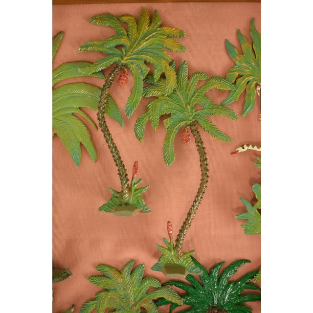 Vintage Mid-Century Hand-Painted Palm Trees - Set of 10 For Sale - Image 9 of 11