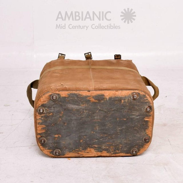 Animal Skin Industrial Military Ice Chest For Sale - Image 7 of 10