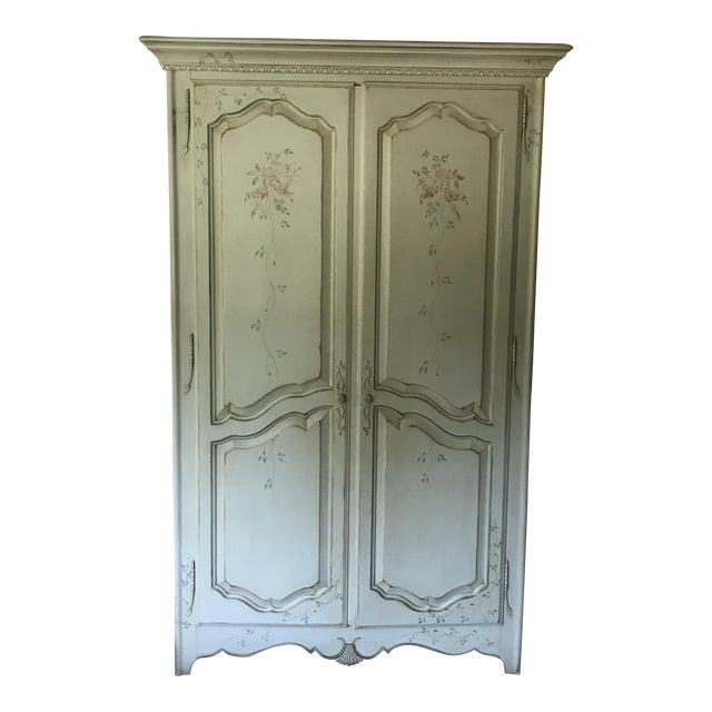 Ethan Allen Painted French Country Armoire For Sale