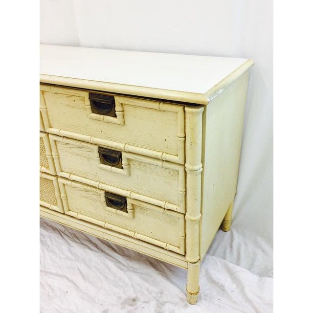 Vintage Faux Bamboo Dresser For Sale - Image 9 of 10
