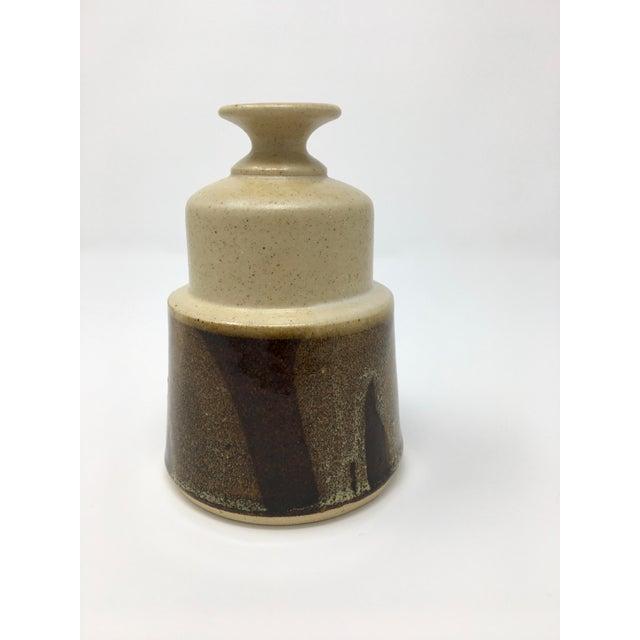 Vintage Mid-Century Ceramic Earth Tone Vase For Sale - Image 10 of 11