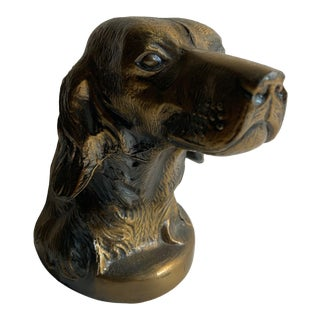 1950 Setter Dog Book End For Sale
