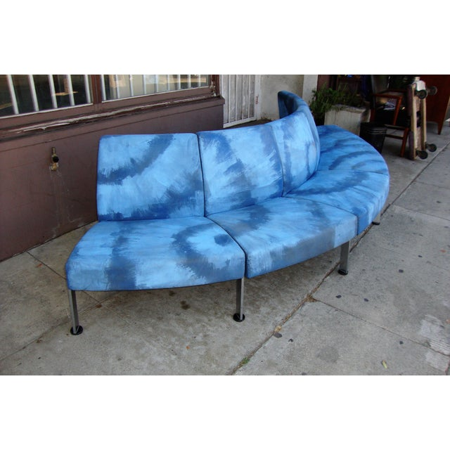Modern Semi Round Sofa For Sale - Image 4 of 13