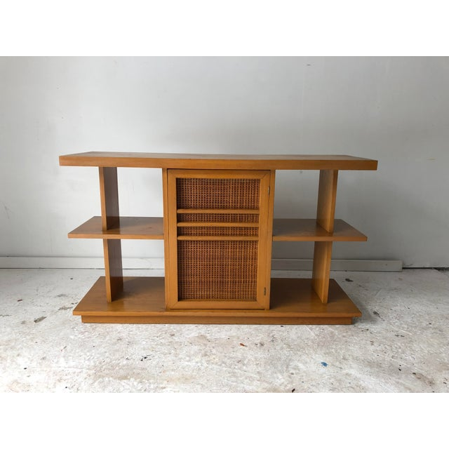 Maple Midcentury Modern Sofa Table Book Case Maple Apartment Size For Sale - Image 7 of 7