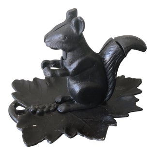 Vintage Cast-Iron Squirrel Nut Cracker Tray For Sale