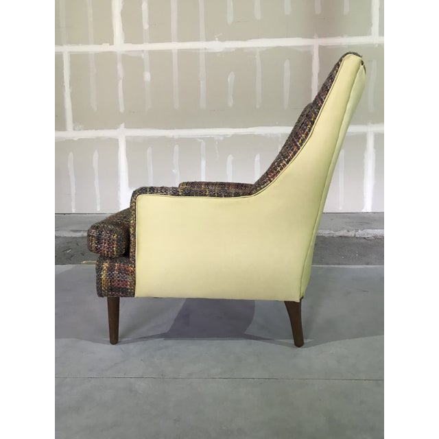 Lawrence Peaboby for Richardson / Nemschoff 1960s Mid Century Modern Scandinavian High Back Lounge Chair Model 9203 and Ottoman For Sale - Image 11 of 13