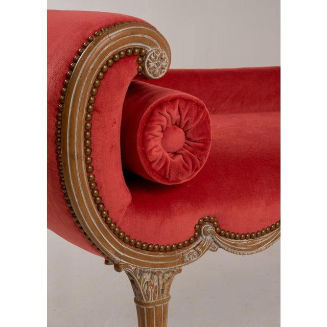 Antique Regency Neoclassical Klismos Saber Leg Bench For Sale - Image 10 of 13