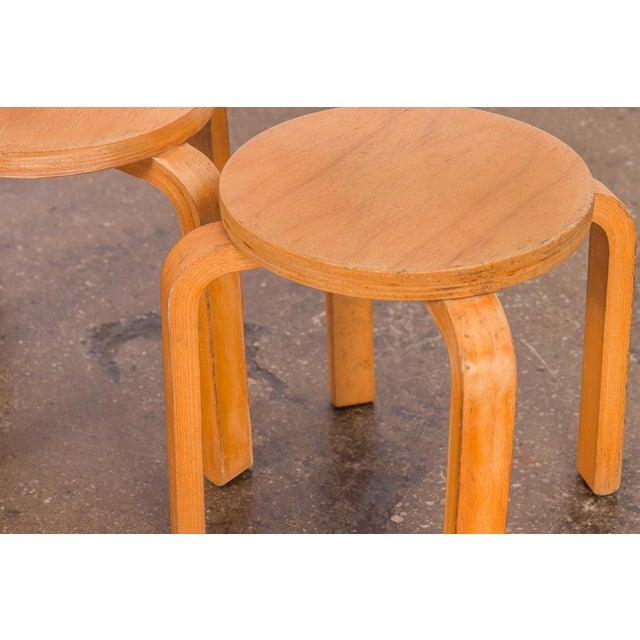 1960s Alvar Aalto Style Small Stacking Stools - Set of 3 For Sale In New York - Image 6 of 9