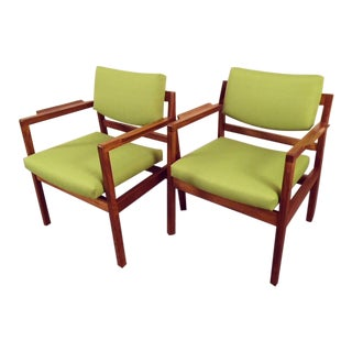 Jens Risom Mid-Century Chairs - A Pair