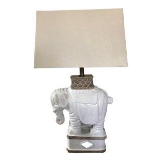 Vintage Signed Italian Terra-Cotta Elephant Lamp