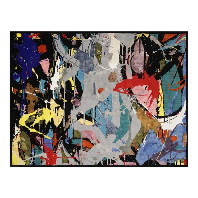"""Boccara Limited Edition Hand Knotted Artistic Rug, """"Street Art"""" For Sale"""