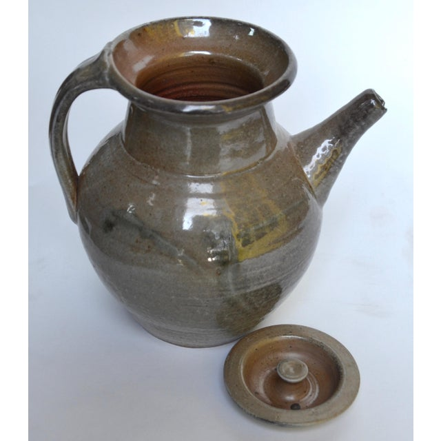 1950s Studio Pottery Large Pitcher, Style of Winchcombe Pottery For Sale - Image 5 of 8