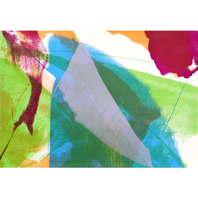 Abstract Abstract Silkscreen by Paul Jenkins 1972 For Sale - Image 3 of 3