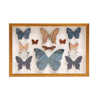 Marbleized Paper Butterfly Box For Sale