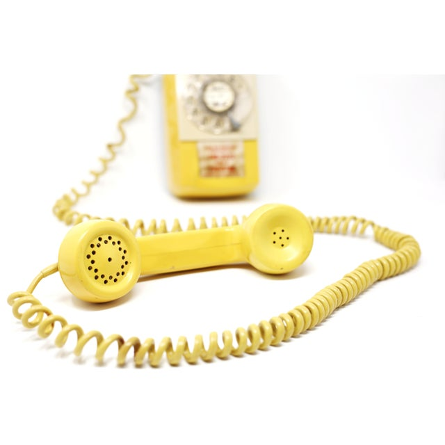 Vintage 1976 Starlite Yellow Rotary Wall Phone For Sale In Tampa - Image 6 of 12