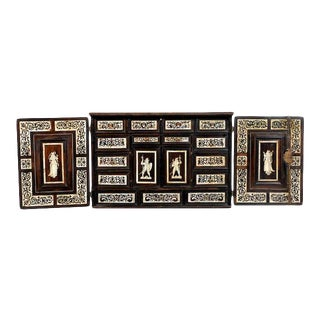 17th Century German Bone Inlaid Ebonised Cabinet