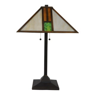 Arts & Crafts Table Lamp For Sale