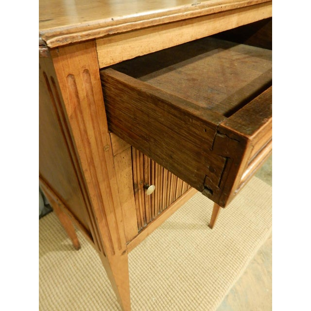 Metal Early 19th C. French Walnut Side Table For Sale - Image 7 of 9