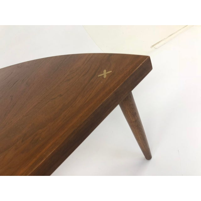 Mid Century Modern Wedge Table - Merton Gershun for American of Martinsville For Sale - Image 9 of 13