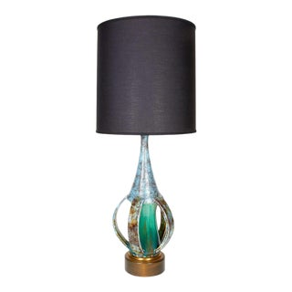 Danish Mid-Century Modern Pottery Lamp with Sculptural Form For Sale