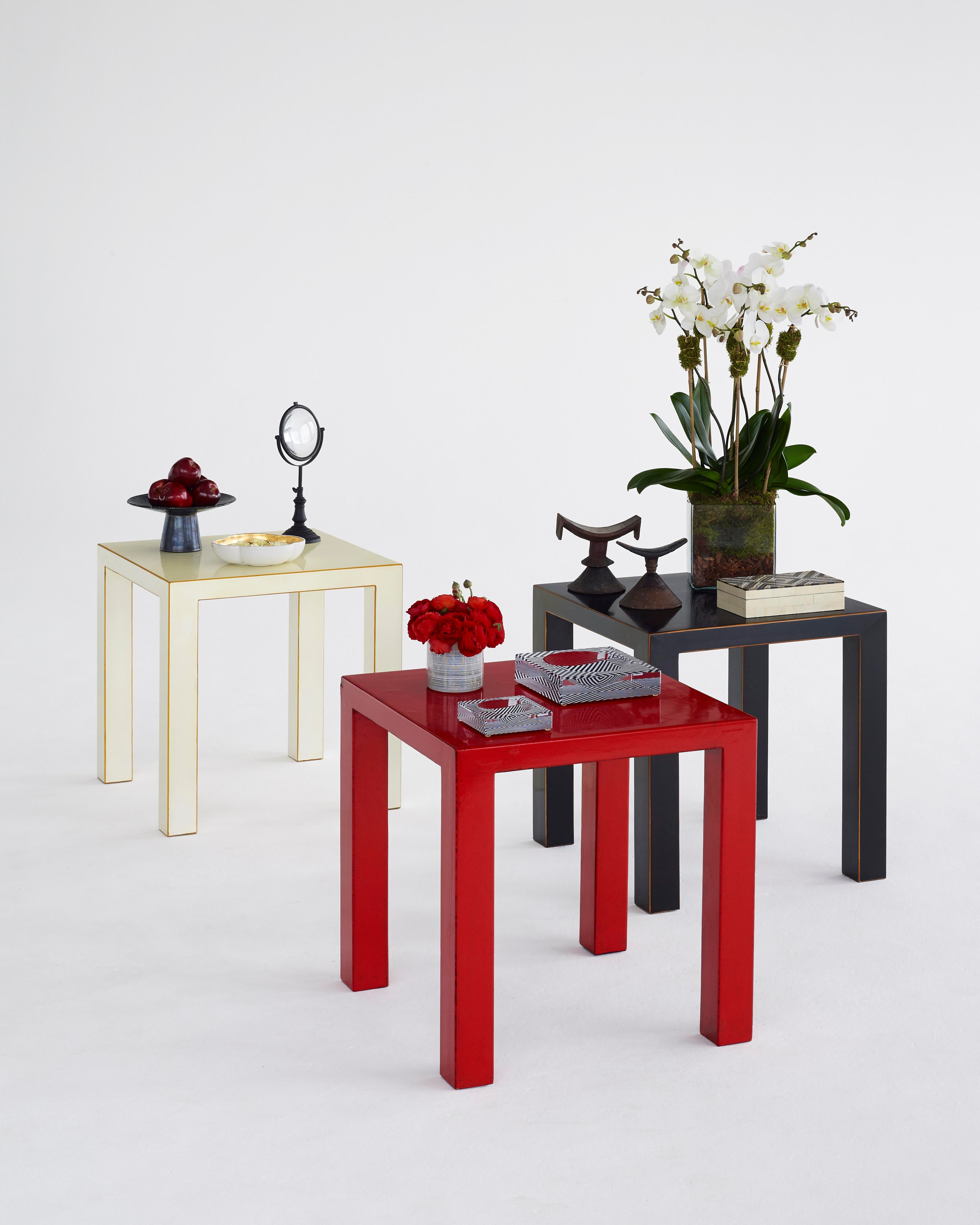 Red Lacquer Side Table   Image 2 Of 3