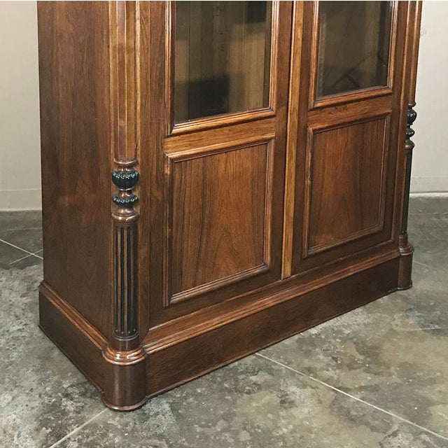 19th Century French Louis Philippe Rosewood Bookcase For Sale In Dallas - Image 6 of 12