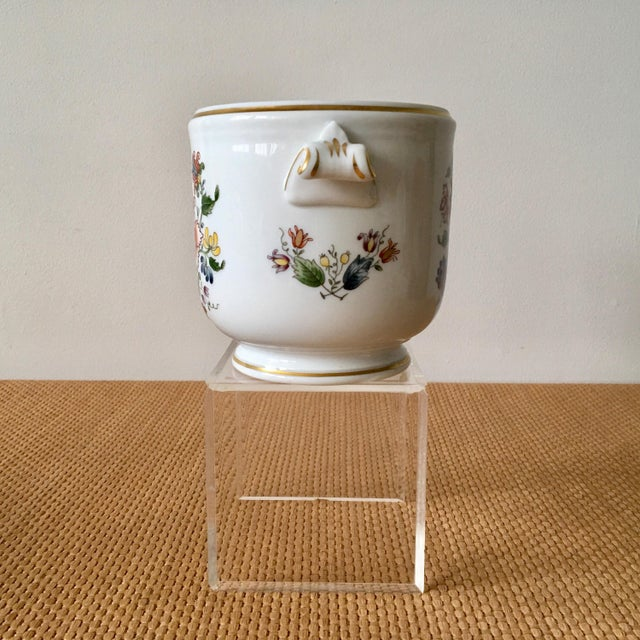Vintage Richard Ginori cachepot, perfect for a floral arrangement or holding a small pot. Marked Richard Ginori, Italy,...