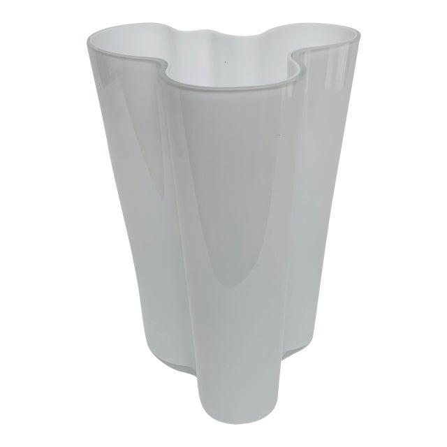 Alvar and Aino Aalto for Iittala Finland Scandinavian Modern Savoy Glass Vase For Sale
