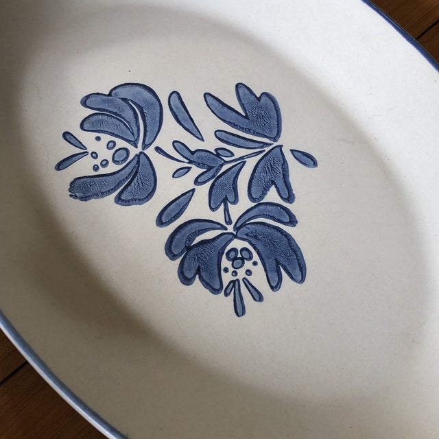 Classic and beautiful blue floral kitchen set. Made of heavy and durable ceramic. Plates vary 11 inches, 8 inches, and 5...