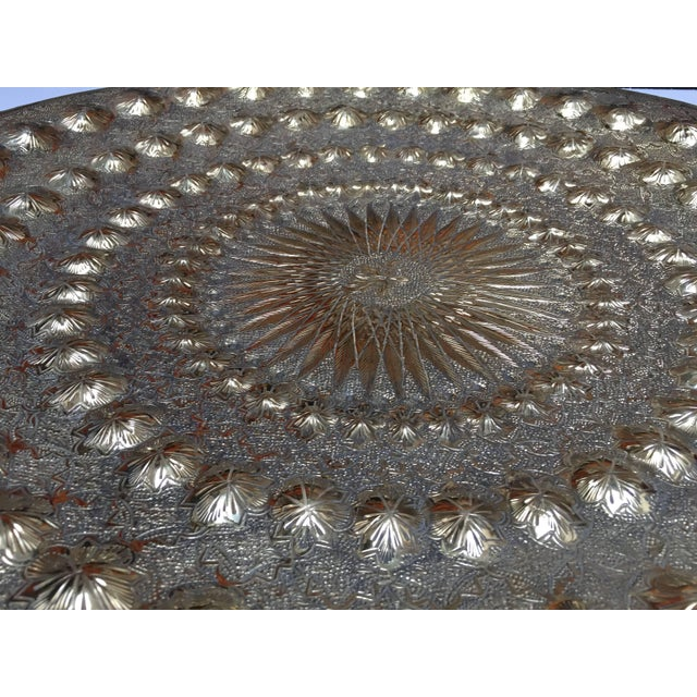 Indo Persian Brass Metal Tray Table For Sale - Image 11 of 13