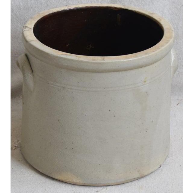 Antique Italian Glazed Stoneware Crock For Sale - Image 4 of 8