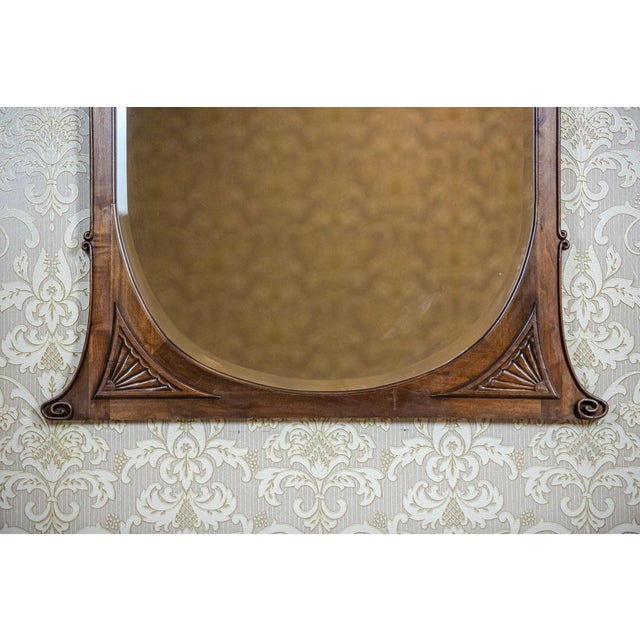 Wood 20th-Century Crystal Mirror in a Wooden Frame (1927) For Sale - Image 7 of 13